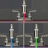 Светодиодная насадка на водяной кран с автоматически изменяющейся 3-х цветной LED подсветкой