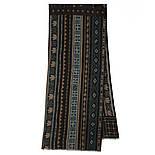 10369-8 кашне мужское разреженная шерсть, павлопосадский шарф (кашне) шерстяной (разреженная шерсть) с осыпкой, фото 4
