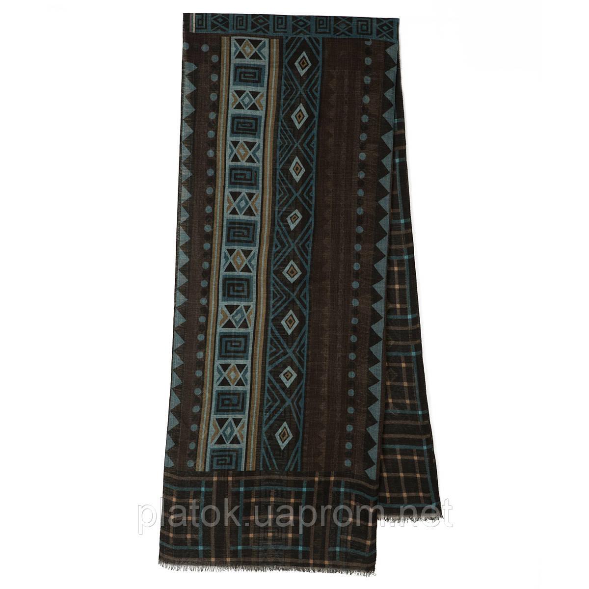 10369-8 кашне мужское разреженная шерсть, павлопосадский шарф (кашне) шерстяной (разреженная шерсть) с осыпкой