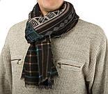 10369-8 кашне мужское разреженная шерсть, павлопосадский шарф (кашне) шерстяной (разреженная шерсть) с осыпкой, фото 5