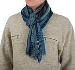 10370-14 кашне мужское, павлопосадский шарф (кашне) шерстяной (разреженная шерсть) с осыпкой, фото 2