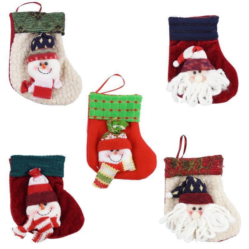 Сапожок для подарков (Дед Мороз красный)