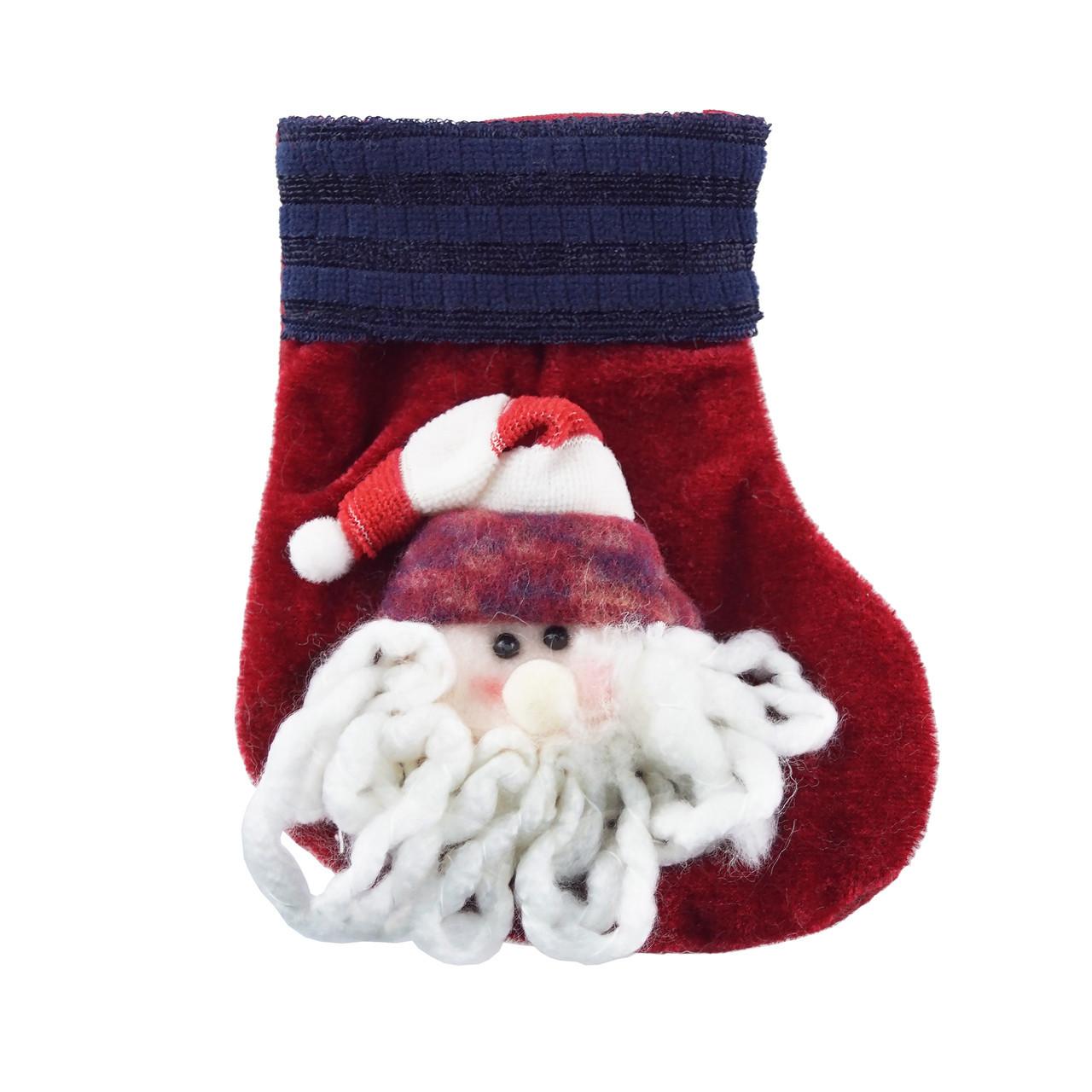 Чобіток для подарунків (Дід Мороз червоний)