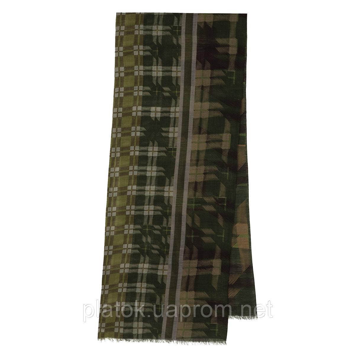 10371-10 кашне мужское, павлопосадский шарф (кашне) шерстяной (разреженная шерсть) с осыпкой
