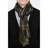 10371-10 кашне мужское, павлопосадский шарф (кашне) шерстяной (разреженная шерсть) с осыпкой, фото 2