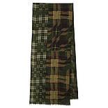 10371-10 кашне мужское, павлопосадский шарф (кашне) шерстяной (разреженная шерсть) с осыпкой, фото 3