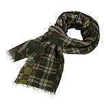 10371-10 кашне мужское, павлопосадский шарф (кашне) шерстяной (разреженная шерсть) с осыпкой, фото 4