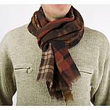 10371-16 кашне мужское, павлопосадский шарф (кашне) шерстяной (разреженная шерсть) с осыпкой, фото 2
