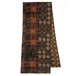 10371-16 кашне мужское, павлопосадский шарф (кашне) шерстяной (разреженная шерсть) с осыпкой, фото 3