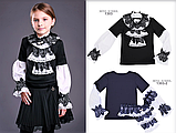 Красивая школьная блузка тм Моне р-р 122, фото 2