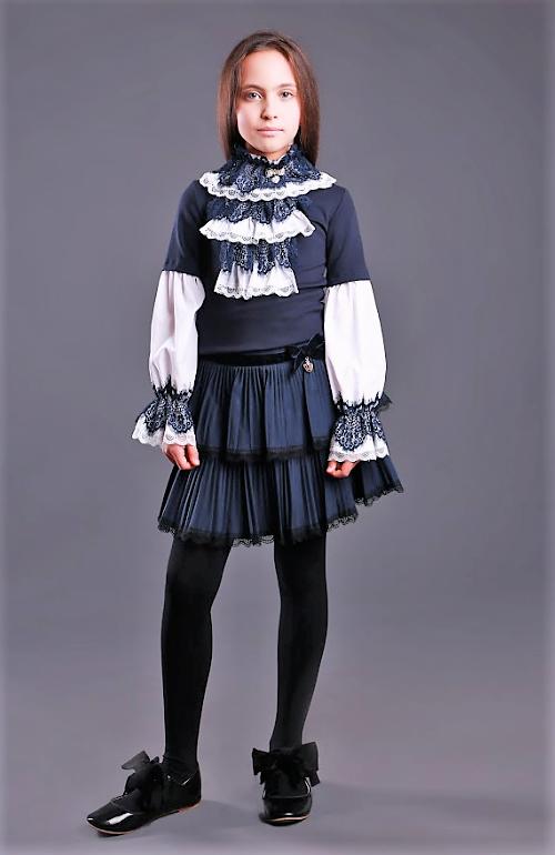Красивая школьная блузка тм Моне р-р 122