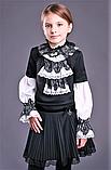 Красивая школьная блузка тм Моне р-р 122, фото 4