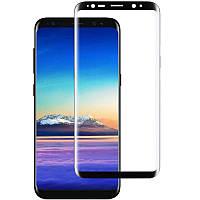 Стекло защитное для телефона Samsung S8 Plus цвет черный Full Glue