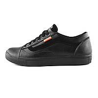 Чоловічі шкіряні кросівки Vans Clasic Black