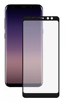 Стекло защитное для телефона Samsung A8 Plus цвет черный Full Glue