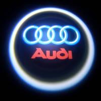 Лазерная проекция логотипа AUDI