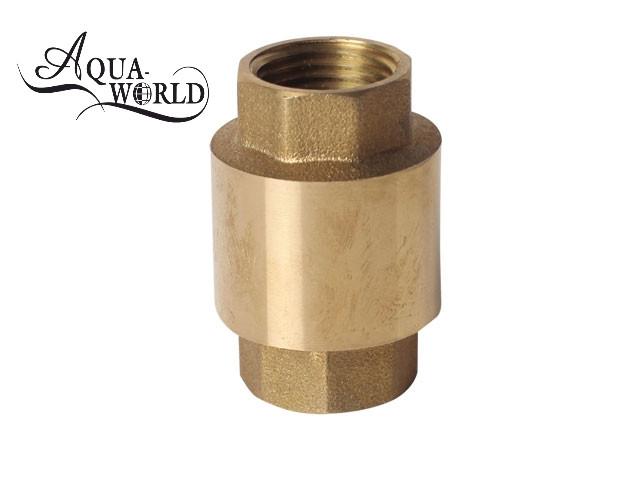 Обратный клапан с латунным штоком Aqua-World ЗКл002