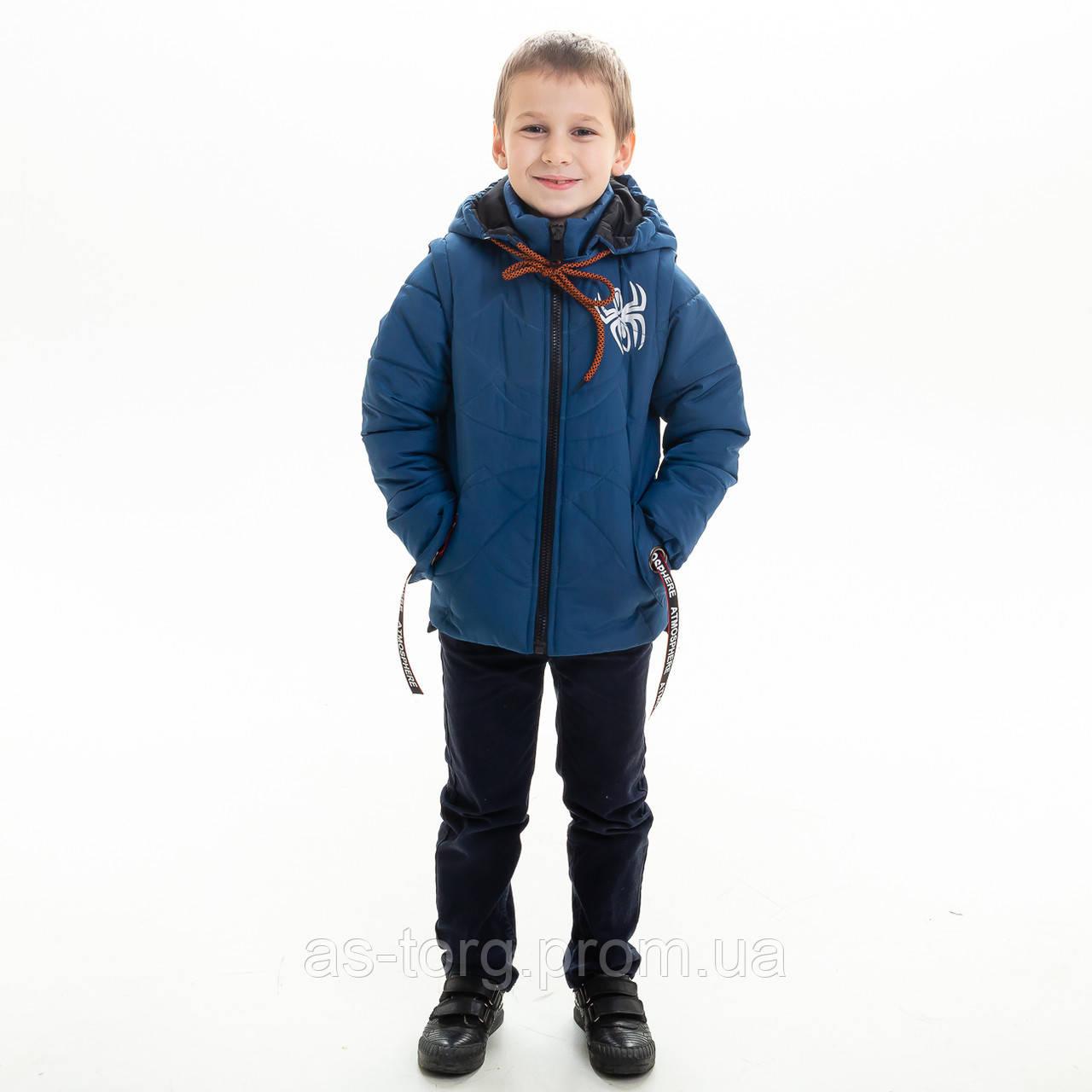 Куртка-жилет для мальчика «Паук» р.24