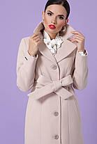 Женское кашемировое пальто Бежевый Размеры 44, 50,52, фото 3
