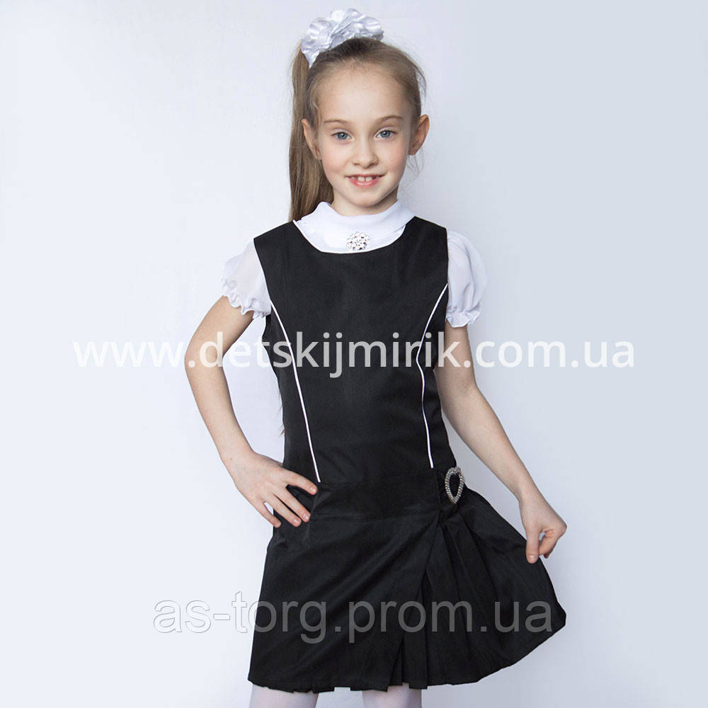 """Оригинальный школьный сарафан """" Алиса """" для девочки, по доступной цене"""