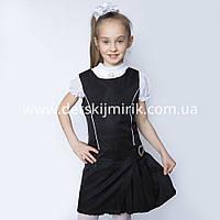 """Оригинальный школьный сарафан """" Алиса """" для девочки, по доступной цене, фото 1"""