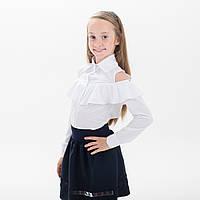 """Блузка школьная """"Кира"""" длинный рукав"""