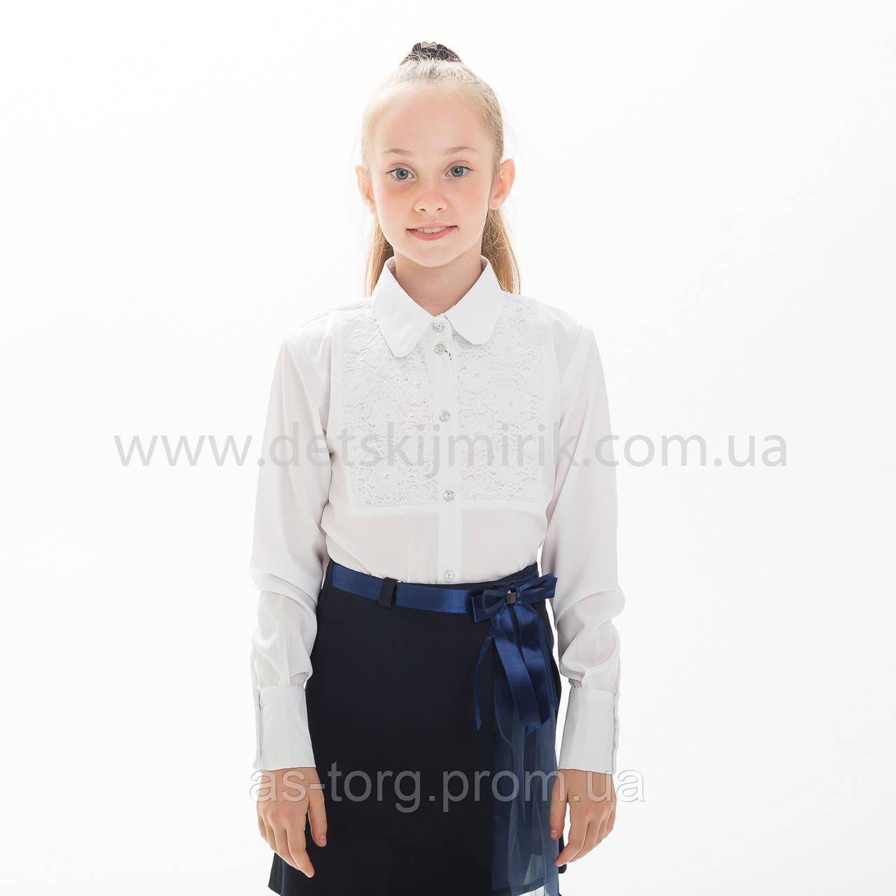"""Школьная блузка белая """"Ксения"""""""