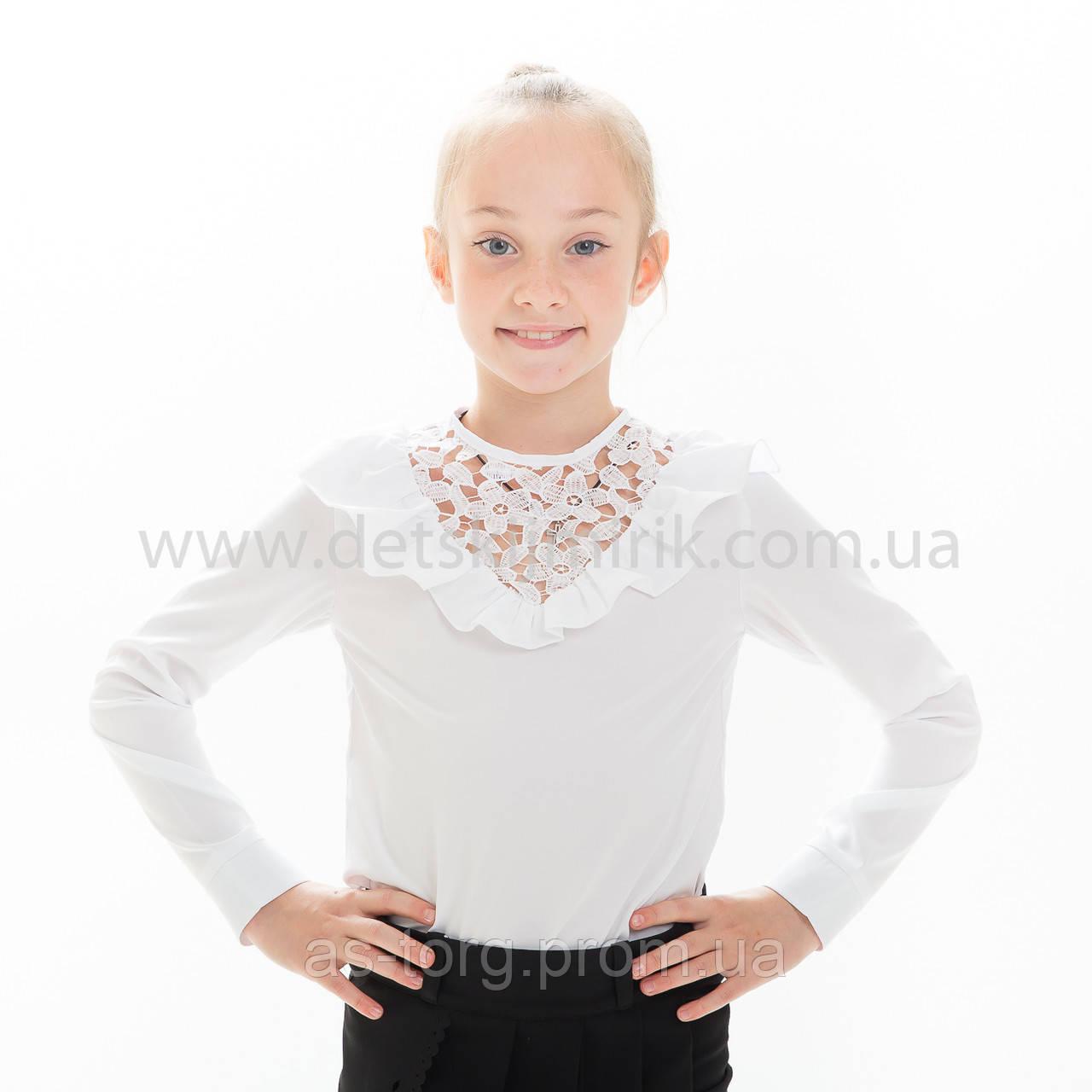 """Блузка школьная белая """"Элина"""""""