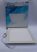 Светодиодная панель Feron AL503 28W 5000K (корпус -белый)