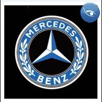 Лазерная проекция логотипа Mersedes
