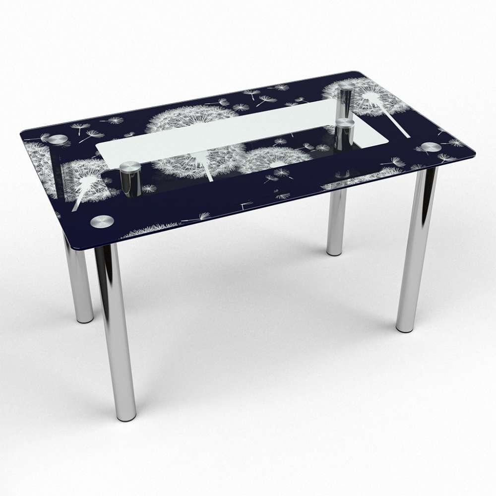 Стол кухонный стеклянный Прямоугольный с полкой Vento 91х61 *Эко (БЦ-стол ТМ)
