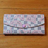 Молодежный кошелек Louis Vuitton розовый Премиум Качество клатч Трендовый барсетка Луи Виттон реплика, фото 1