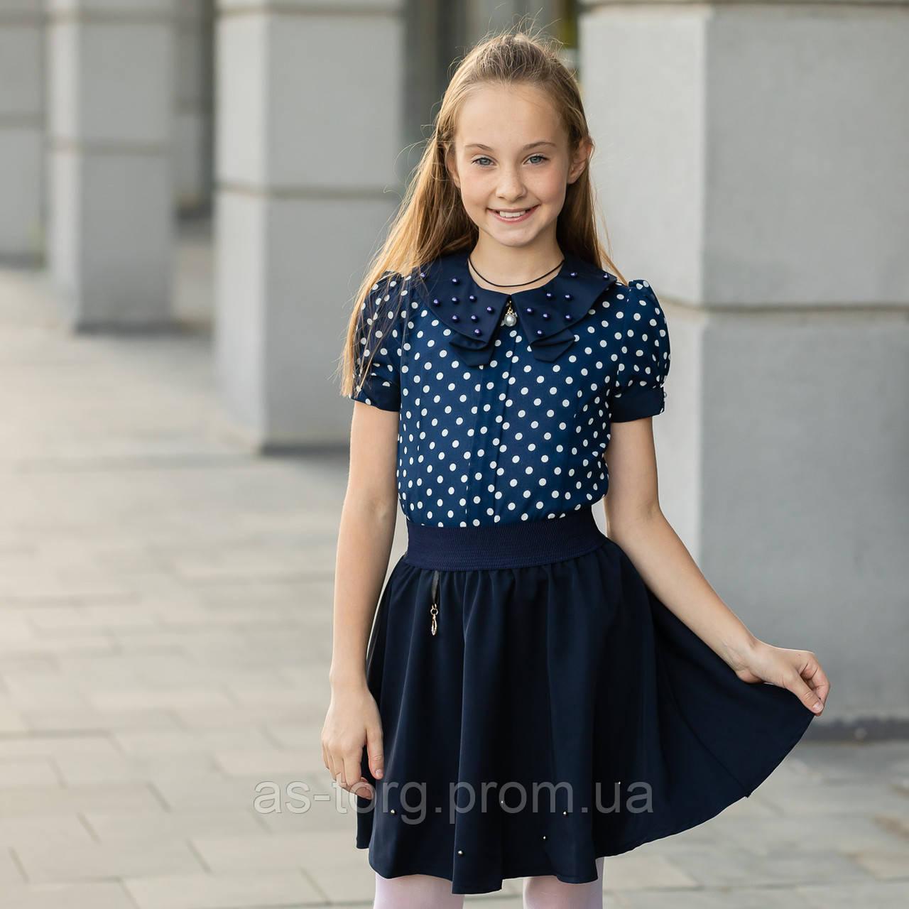 """Школьная блузка для девочки """"Б-9"""""""