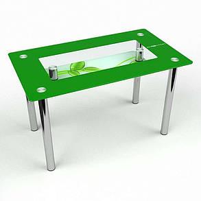 Стол кухонный стеклянный Прямоугольный с полкой Verde 91х61 *Эко (БЦ-стол ТМ), фото 2