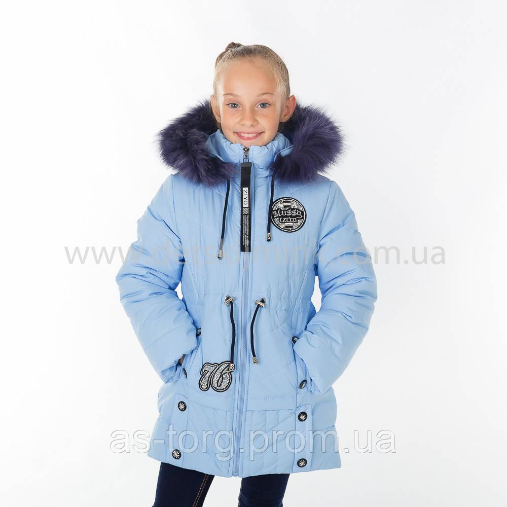 "Зимняя куртка для девочки ""Кнопка "",Зима 2018"