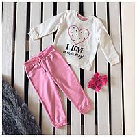 Костюм для девочки Pepco , кофта и штаны , розовый костюм