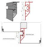 Профиль алюминиевый для натяжных потолков - двухуровневый ПЛ-75, с подсветкой, с пропилами. Длина профиля 2,5, фото 3