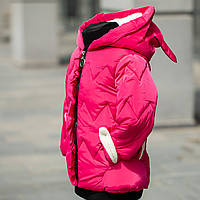 Куртка стеганная демисезонная для девочки «Ушки», фото 1