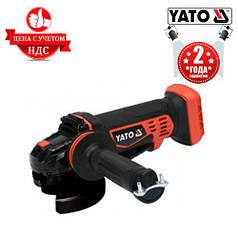 Угловая аккумуляторная шлифмашина YATO YT-82827