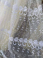 Тюль турецька фіранки портьєри, штори ширина 285 см сублімація тюль-25073, фото 1