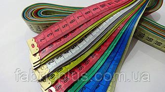 Лента сантиметровая 150 см двухсторонняя (2 см) цветная