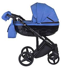 Коляска Adamex Chantal C203 синий 2в1