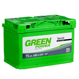 Автомобильный аккумулятор Green Power 6СТ-75