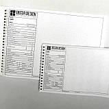 Промо матеріал для натяжних стель. Фірмова зошит для замірів натяжних стель мала А5(50 лист.), фото 3