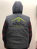 Двостороння брендовий куртка-безрукавка від Decor Design, фото 3