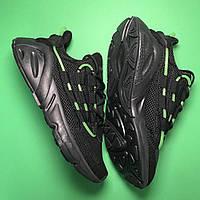 Мужские кроссовки Adidas Lexicon Future Black Green черные с зеленым