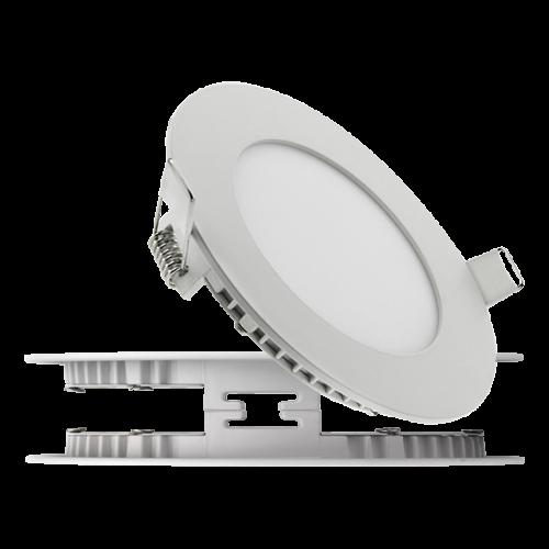 """Світлодіодний світильник вбудований LED панель 3 Вт, 185Лм, вбудовуваний """"Коло"""" або """"Квадрат"""" ультратонкий"""