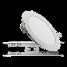 Светодиодный светильник встраиваемый круглый (Slim), 12Вт, 850Лм