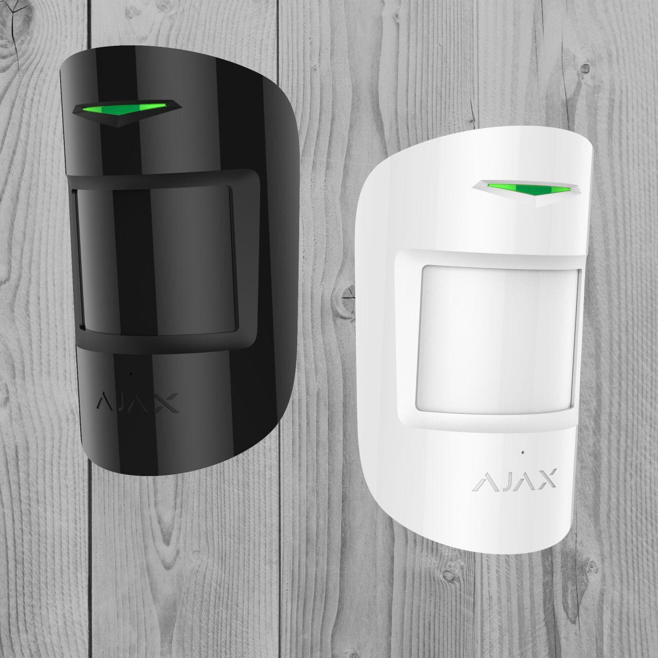 Бездротовий датчик руху та розбиття Ajax CombiProtect (білий, чорний)
