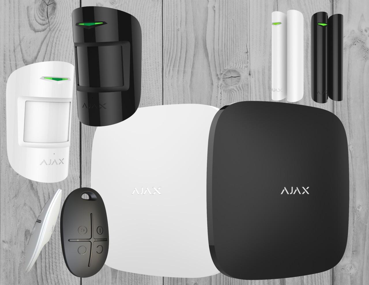 Комплект бездротової GSM сигналізації Ajax StarterKit (білий, чорний)